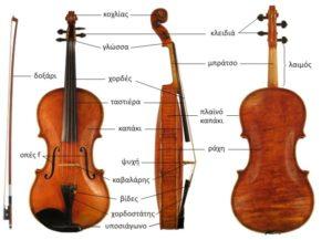 Τα μέρη του βιολιού